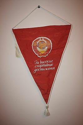 Original Soviet Banner Pennant FLAG Russian USSR NEW Never use. With  label