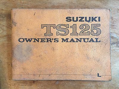 Suzuki TS125 Owner's Manual