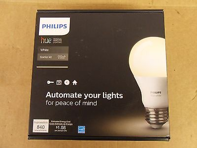 New Philips Hue Personal Wireless Lighting White 840 Lumens Starter Kit
