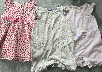 Girls Dress And Playsuit Bundle 3-6 Months Mothercare Tu