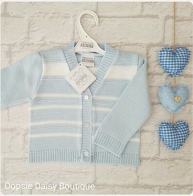 Baby Boys Traditional Style Knitted Cardigan