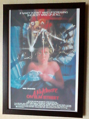 A Nightmare on Elm Street (1984 movie poster) framed print