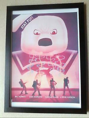 Ghostbusters (30th anniversary Stay Puft Marshmallow Man poster) framed print