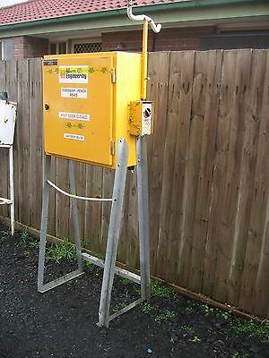 Temporary Power Box On Stand. Single & 3 Phase