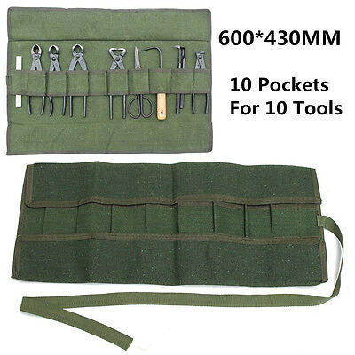 Japanes Bonsai Storage Package Roll Bag Canvas Tool Set Case 600*430MM Green