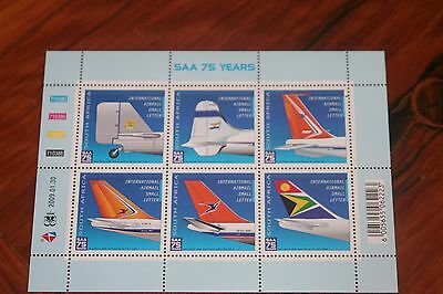 South Africa 2009 The 75th Anniversary of South African Airways Stamp sheet