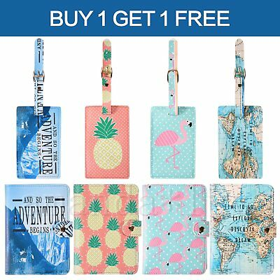 Passport Cover Wallet Holder Luggage Tag MAP Suitcase Name Label Address ID Tags