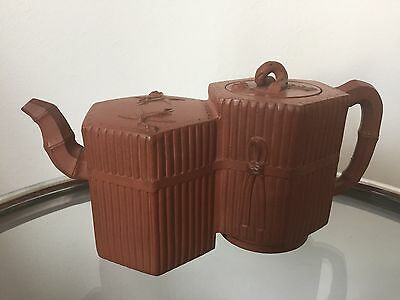 Antique Chinese Yixing Conjoined Hexagonal Teapot - RELISTED DUE TO NON PAYMENT
