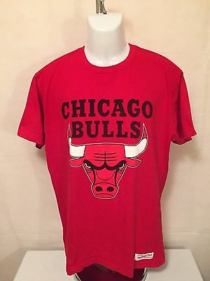 NBA Chicago Bulls LGE Vintage Wordmark Cotton Tee by Mitchell & Ness