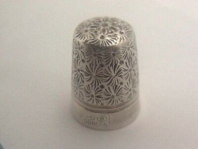 Silver Plated Charles Horner Dorcas 8 Thimble
