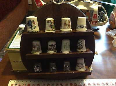 Thimbles and stand 16 thimbles in total