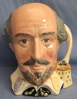 Royal Doulton Jug WILLIAM SHAKESPEARE D6689 - LARGE SIZE - EXC COND