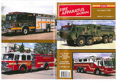 FAJ FIRE APPARATUS JOURNAL,JULY/AUGUST 2002,US ARMY TFFT,FDNY Special Units,N.J.