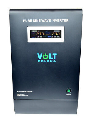 Off-Grid Pure Sine Wave Inverter Charger Sinus Pro 5000W 48V /240V 15A AVR UPS