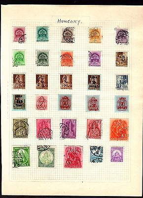 Stamps ~  HUNGARY HUNGARIAN #1 ~ On Album Page UNSORTED/Unchecked