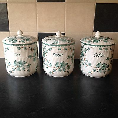 Ceramic Tea, Coffee And Sugar Canisters