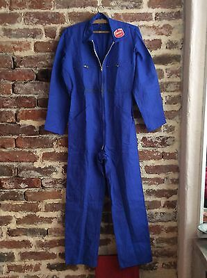 Vtg True French Blue Workwear Coverall Dungarees Overalls Chore Boiler Suit #11