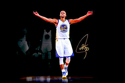 Stephen Curry Magic Golden State Warriors Signed Autographed Poster Print