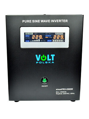 Off-Grid Pure Sine Wave Inverter Charger Sinus Pro 2500W 24V /230V 20A AVR UPS