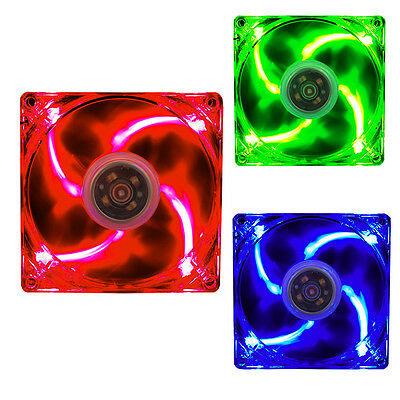 90/120/140/180mm Computer 3/4pin LED Silent Cooling Fan Fluid Dynamic Bearing
