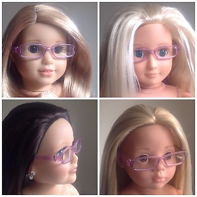 "American Girl Journey Girl Our Generation Gotz 18 20"" Doll Clothes. Glasses Only"
