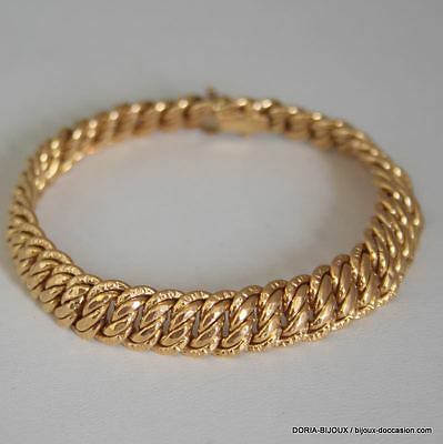 Bracelet Maille Americaine Or 18k 750 /000 – 15.7grs - Bijoux occasion