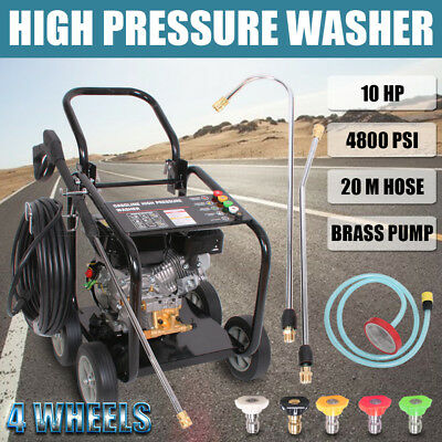 Black Jet 10HP/ 4800 PSI High Prssure Water Washer Petrol Cleaner Gurney 20M