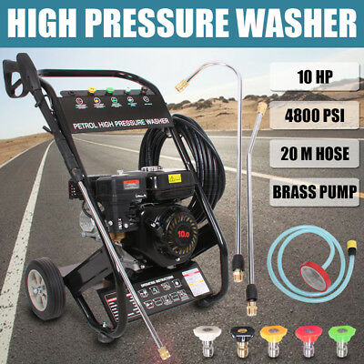 Black Jet 10HP/ 4800 PSI High Pressure Water Washer Petrol Cleaner Gurney 20M