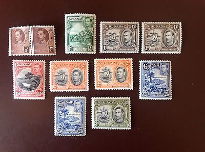 Grenada 1938-50 Values to 3D With Perf Varieties MNH