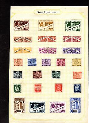 Stamps ~ SAN MARINO ~ On Album Page UNSORTED / Unchecked