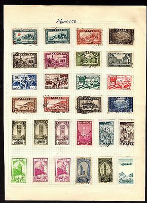 Stamps ~ MOROCCO MOROCCAN ~ On Album Page UNSORTED/Unchecked