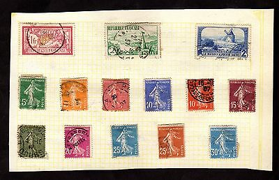 Stamps ~ FRANCE French FRANCAIS ~ On Album Page UNSORTED / Unchecked #1