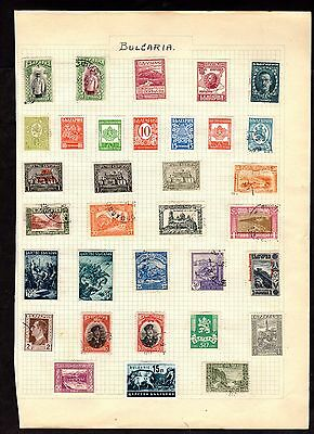 Stamps ~ BULGARIA Bulgarian ~ On Album Page UNSORTED / Unchecked