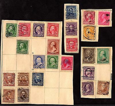 Stamps ~ UNITED STATES AMERICA USA ~ Mixture Early On Paper #1