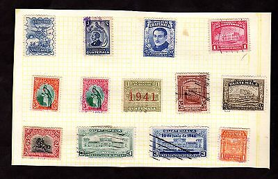 Stamps ~ GUATEMALA ~ On Album Page UNSORTED / Unchecked #2