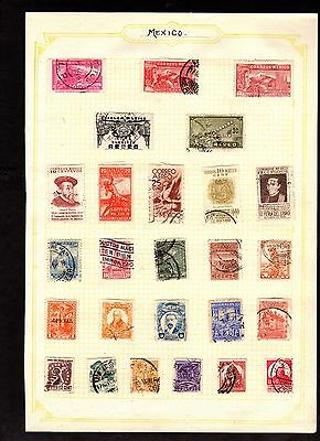 Stamps ~ MEXICO MEXICAN ~ On Album Page UNSORTED / Unchecked #1