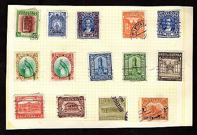 Stamps ~ GUATEMALA ~ On Album Page UNSORTED / Unchecked #1