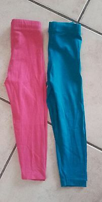jolie lot legging 3 ans fille ORCHESTRA rose bleu