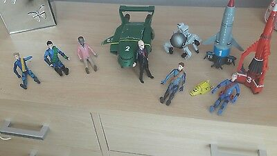 Hugh thunderbirds collection figures and vehicles