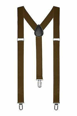 Braces / Suspenders One Size Fully Adjustable Y Shaped With Strong Clips