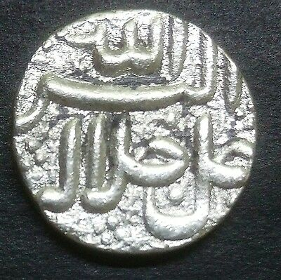 Silver-Mughal India-Akbar One Rupee-Very Old And Rare-Wt:-11.390 Gram.