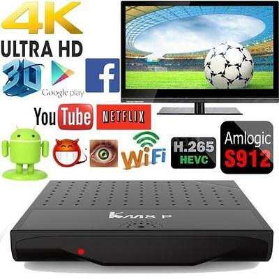 Android 7.1 Smart TV BOX Amlogic S912 Octa Core 64bits WiFi VP9 4K 3D Movie