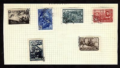 Stamps ~ RUSSIA RUSSIAN ~ On Album Page UNSORTED Used
