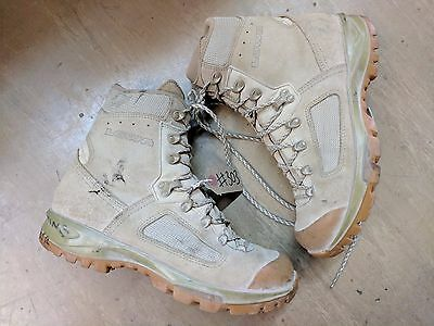 Original British Army Issue Leather Lowa Desert Combat Boots Size 9 UK #303