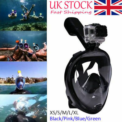Full Face Breath Diving Mask Surface Snorkel Scuba for GoPro Swimming Tools #GOG