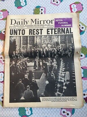 Daily Mirror  Royal funeral number Wednesday January 29th 1936