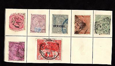 Stamps ~ JAMAICA JAMAICAN~ On Album Page UNSORTED