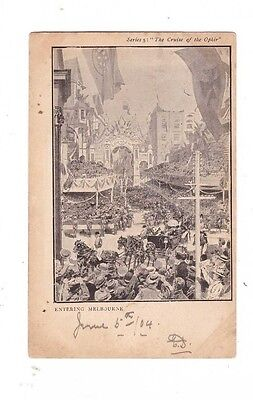 "Australia VICTORIA Postcard, ""ROYAL VISIT"" ENTERING MELBOURNE Vic"