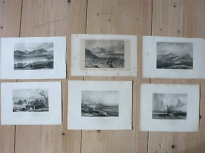 Konvolut Stahlstich England Holyrood Hurst Dover Broadstairs Falmouth Ulleswater