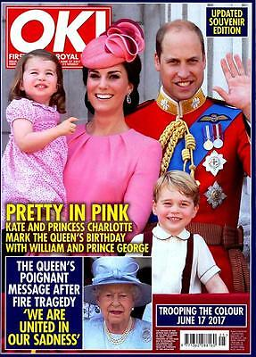 UK OK! magazine 26 June 2017 Trooping The Colour Kate Middleton Prince George
